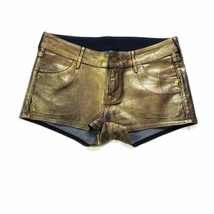 H&M●Divided Gold shorts